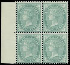 jamaica first issue stamps
