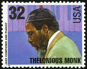 Thelonious Monk U.S. stamp