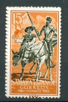 don quixote stamp - Spanish Sahara
