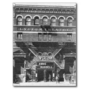 lyceum theatre postcard 1885 - zazzle