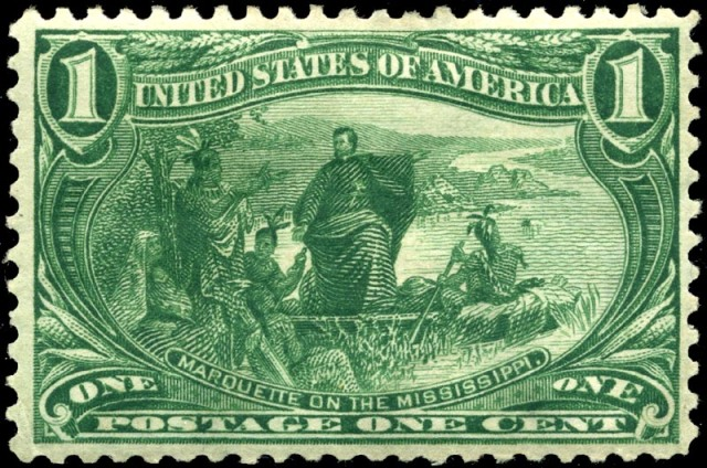 jacques marquette - trans-mississippi 1898 issue