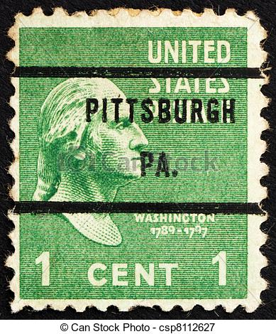 pittsburgh precancel - USA 1938