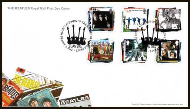 Beatles Jan 2007 Royal Mail FDC