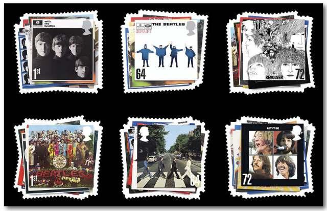 Beatles Miniature Sheet - Great Britain - Jan 2007