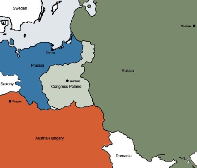 Poland - Map in 1860