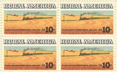 rural america kansas winter wheat blk of 4 - usa