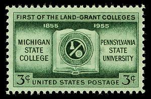 MSU Land Grant postage stamp - USA