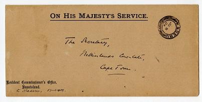 basutoland - maseru cancellation 1909