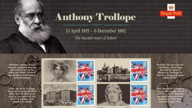 anthony trollope - UK commemorative sheet