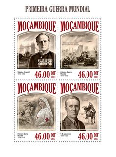 t.e. lawrence souvenir sheet - mozambique
