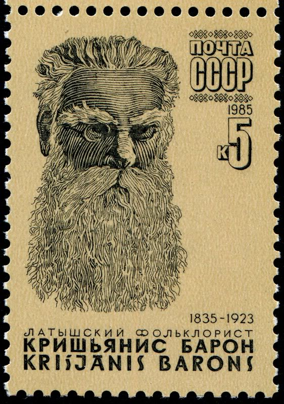 beards - Russia Krushjanis Barons - Latvian folklorist writer